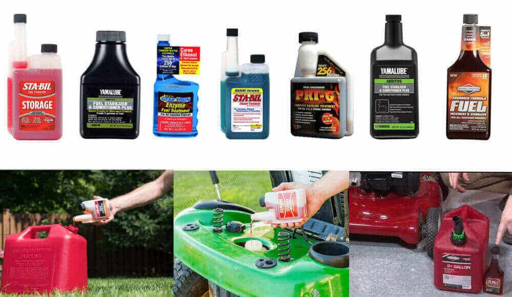Different brands of fuel stabilizers that suitable for 2-stroke engines.