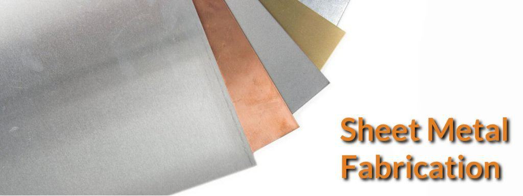 Mild still, copper and aluminium metal sheet.