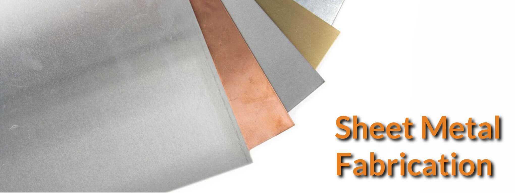 Mild still, copper and aluminium metal sheet.