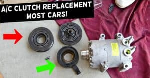 the process and cost of replacing AC compressor clutch.