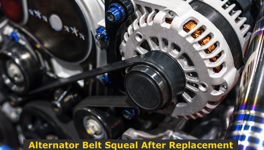 Replacing the alternator belt.