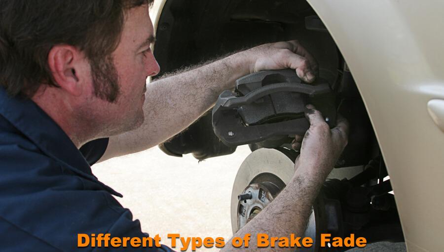 Mechanic is repairing the brake fade issues.