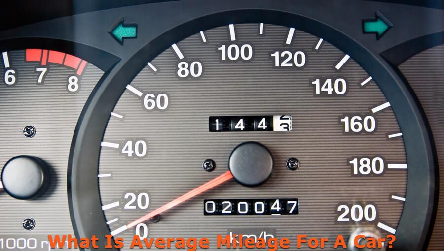 Mileage meter on car.