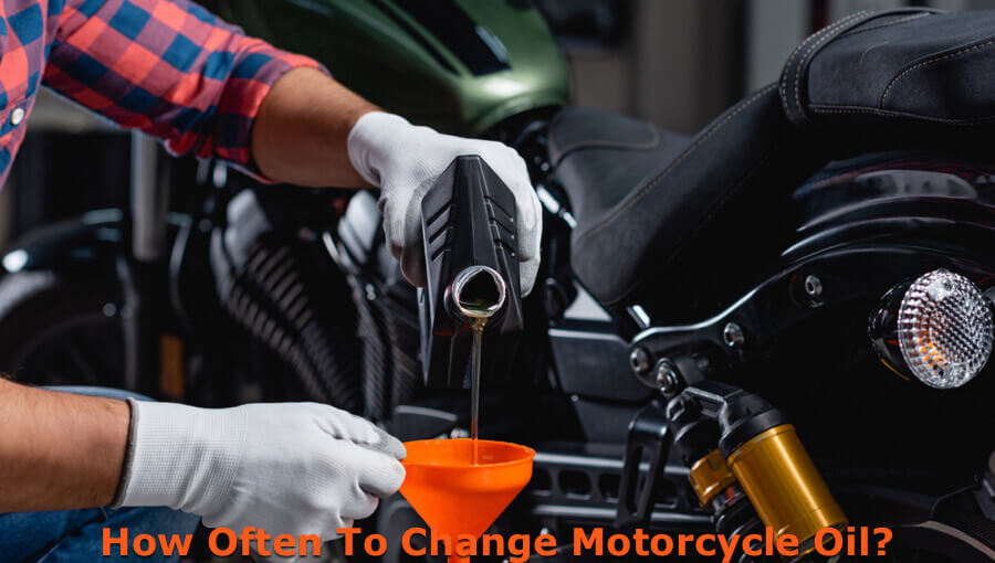 Scheduling the motorcycle oil changing session.