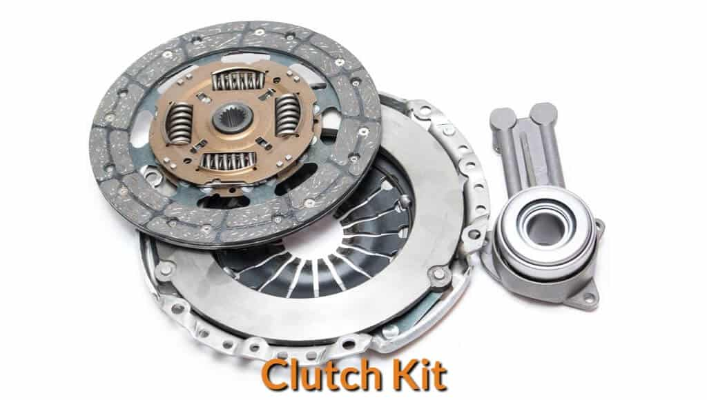 Auto parts that included in the clutch kit.