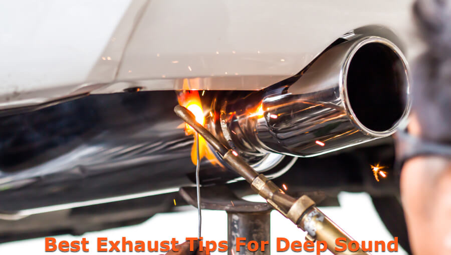 Welding and installing new exhaust tip to increase depth of exhaust sound.