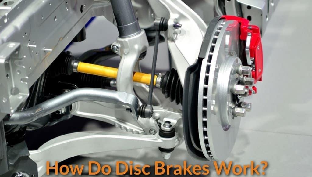 new car disc brake in workshop.