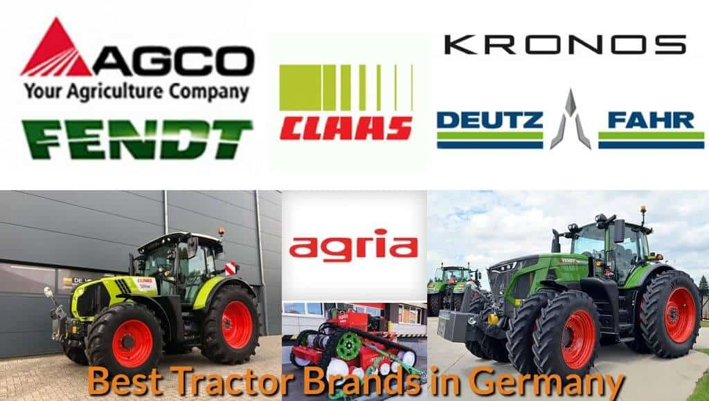 Top tractor brands and models in Germany.