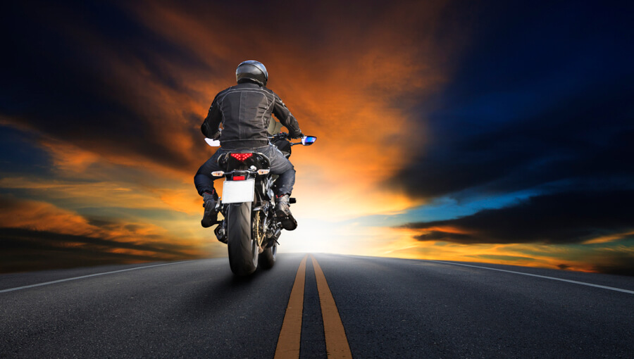 Riding motorcycle for long distance.
