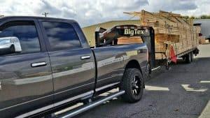 Ram is trucking a trailer.