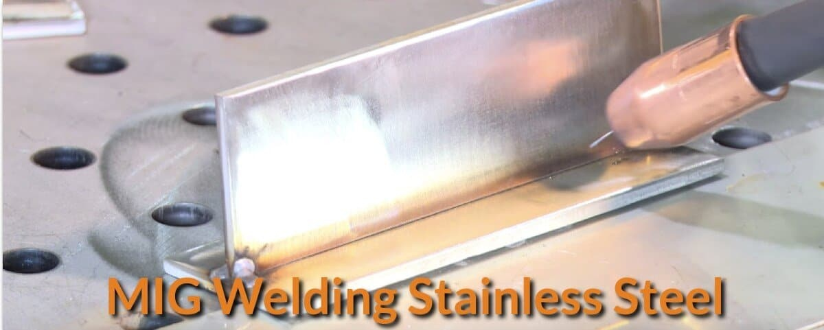 Welding stainless steel angle fillet.