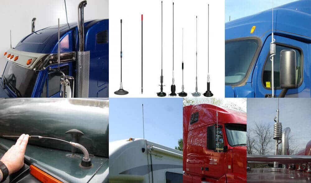 Different types of antenna for semi-trucks