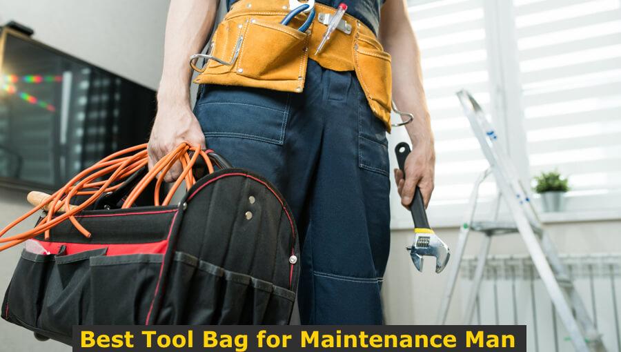 Mechanic carrying maintenance bag for onsite repair.