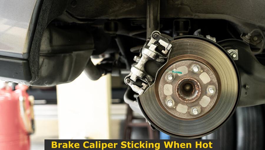 Repairing the stuck brake caliper.