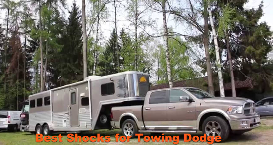 Ram Dodge towing a camper.