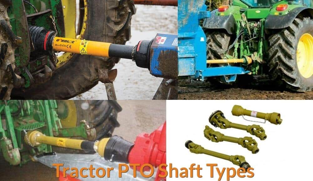 Different examples of tractor PTO.