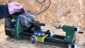 Testing the metal lathe machine.